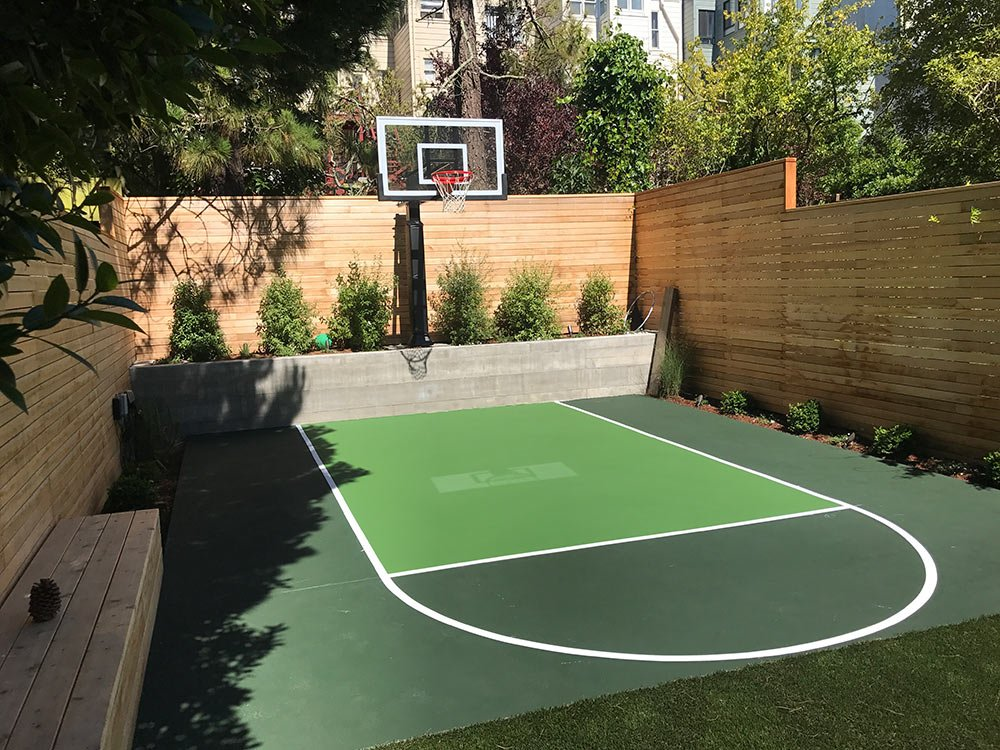 Custom Basketball Court builder with many options for customization